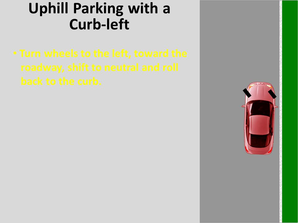 Uphill Parking with a Curb-left