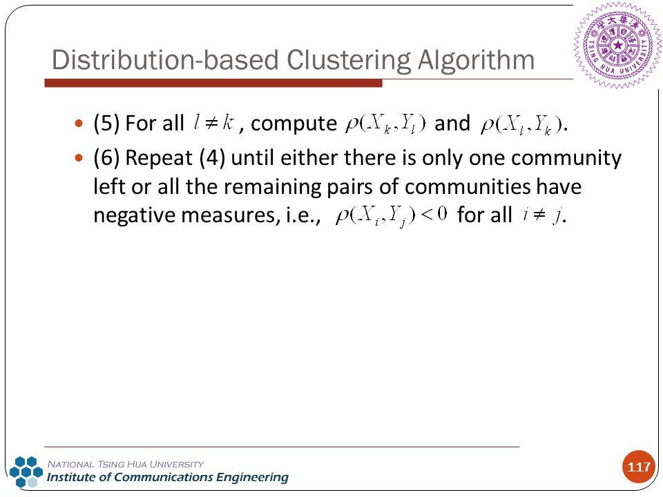 Distribution-based Clustering Algorithm