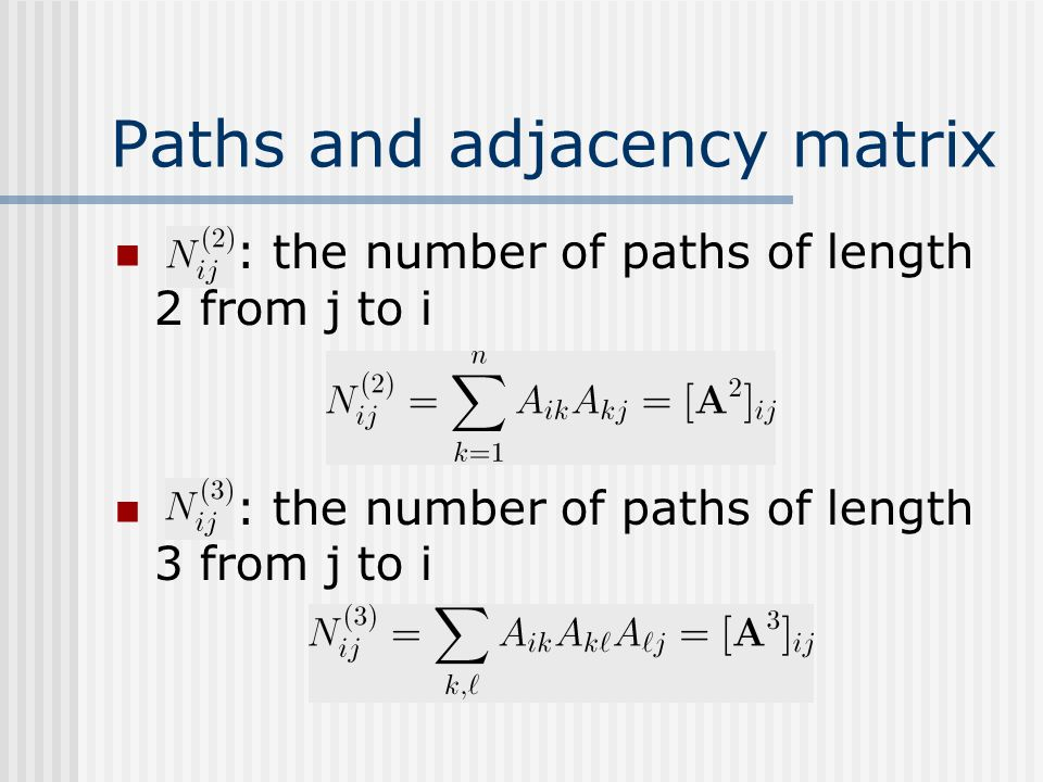 Paths and adjacency matrix