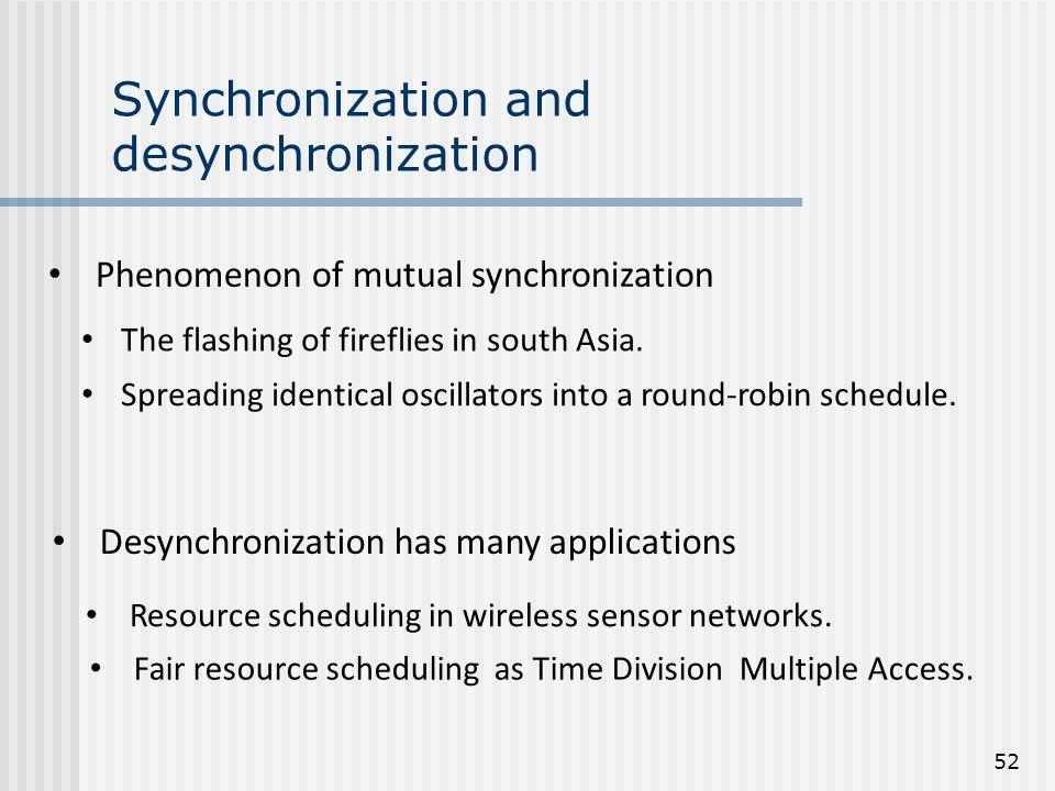 Synchronization and desynchronization