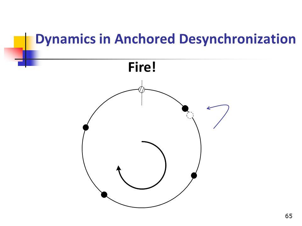 Dynamics in Anchored Desynchronization