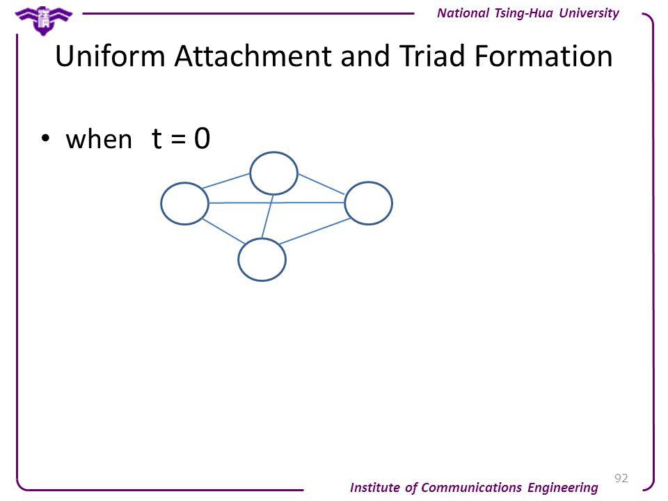 Uniform Attachment and Triad Formation