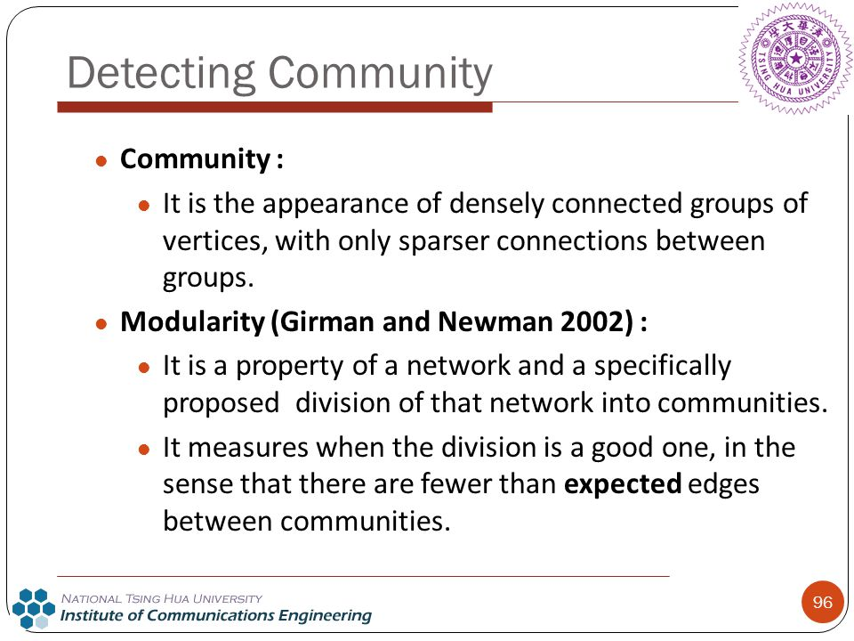Detecting Community Community :