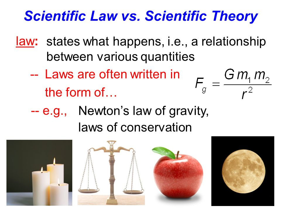 Scientific Law vs. Scientific Theory