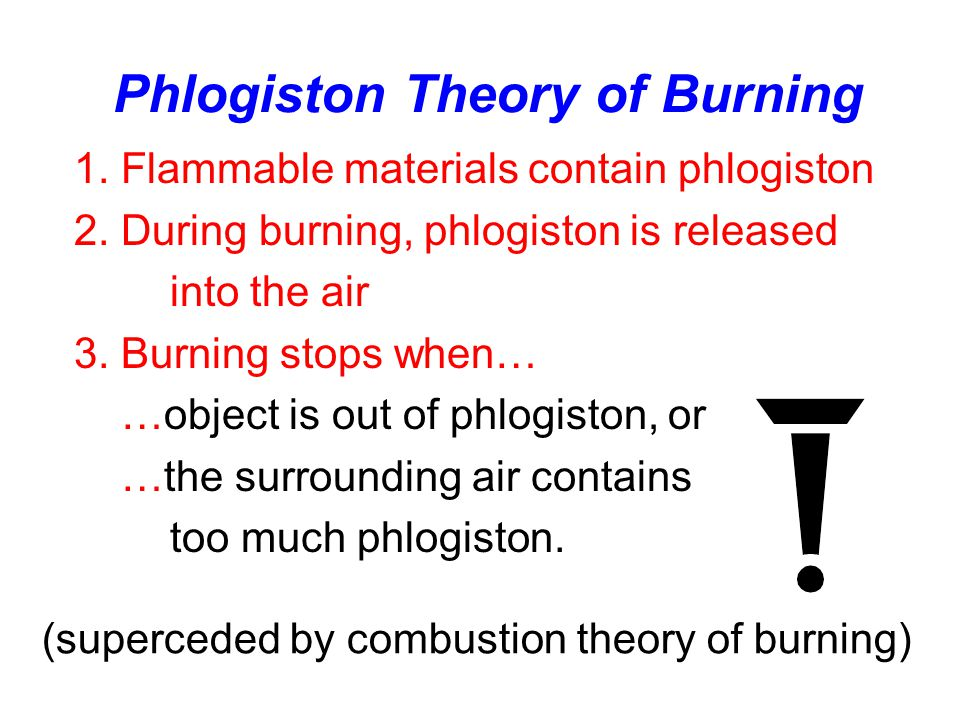 Phlogiston Theory of Burning