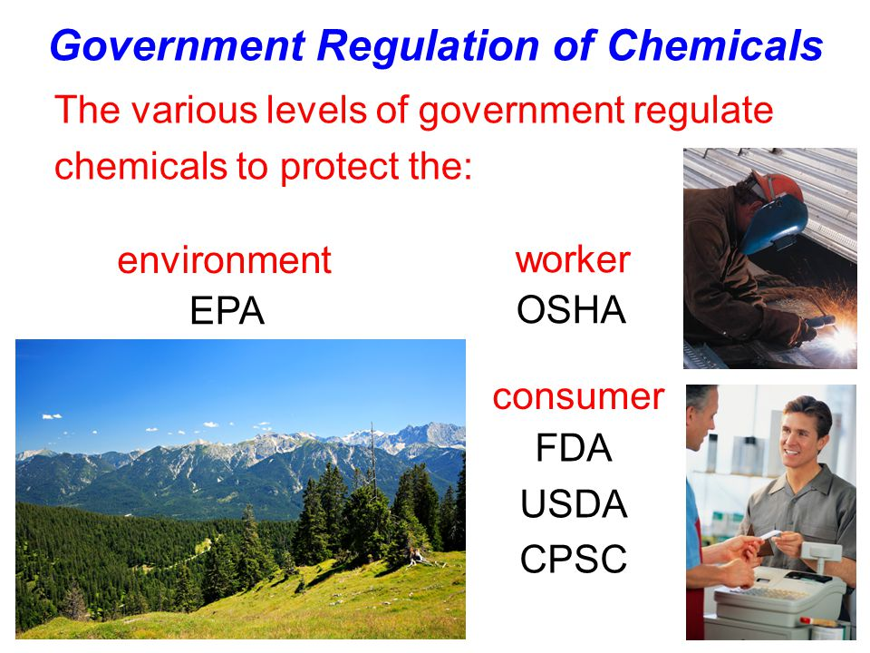 Government Regulation of Chemicals