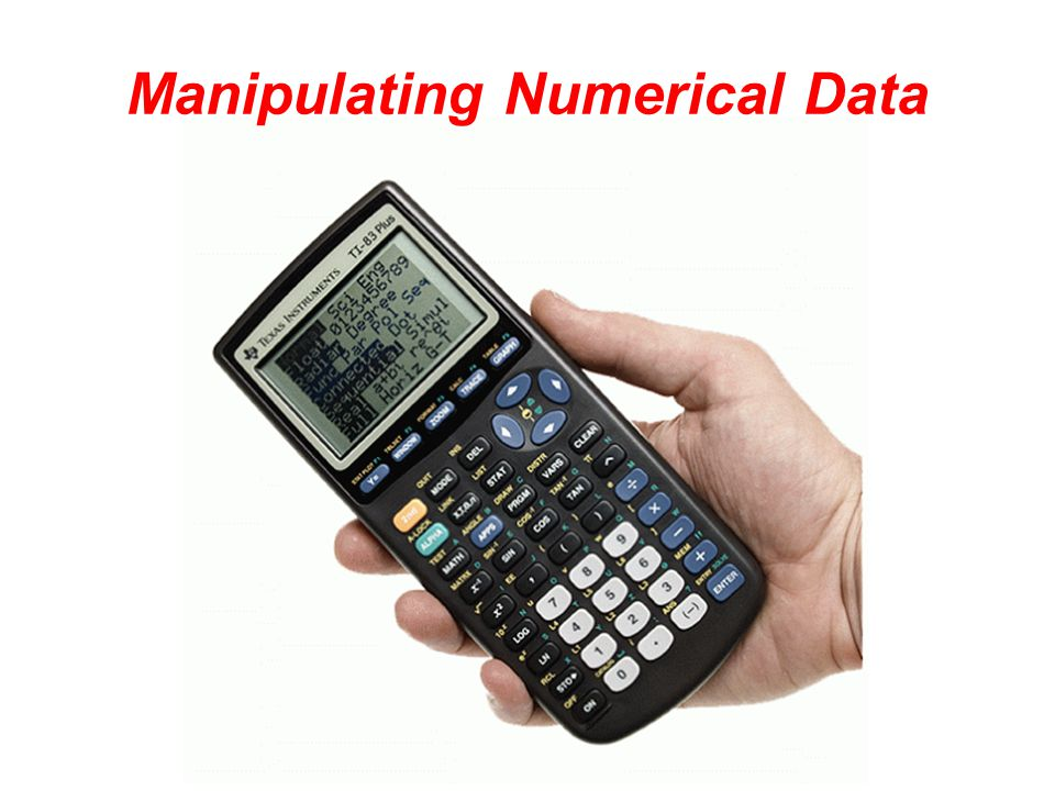 Manipulating Numerical Data
