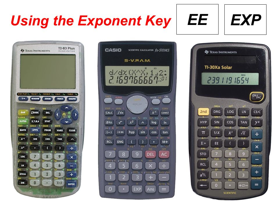 Using the Exponent Key EE EXP