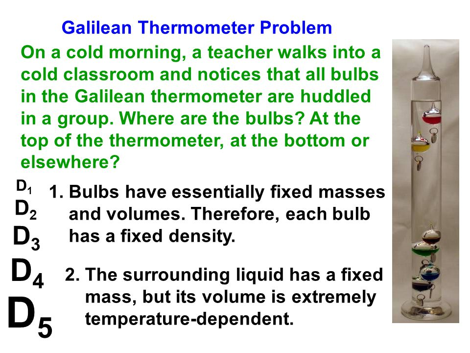 D5 D4 D3 D2 Galilean Thermometer Problem
