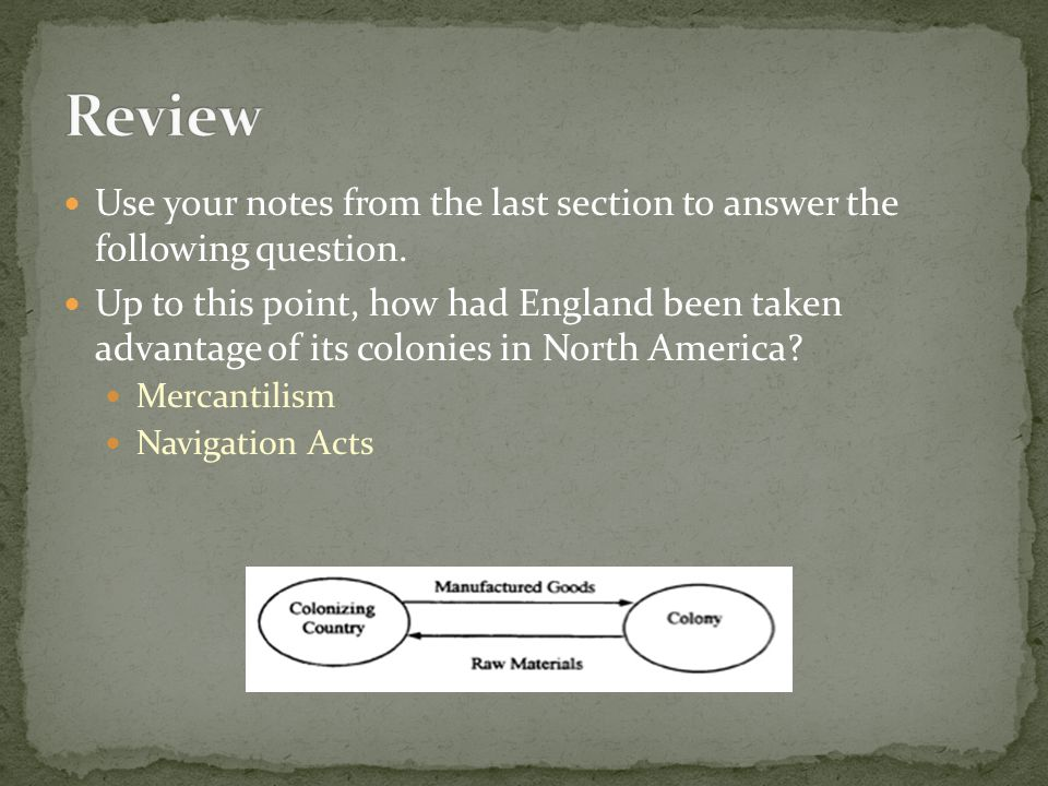 Review Use your notes from the last section to answer the following question.