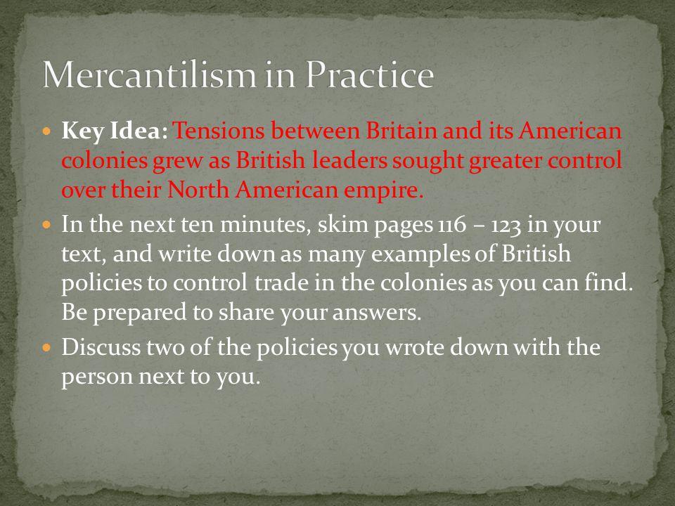 Mercantilism in Practice