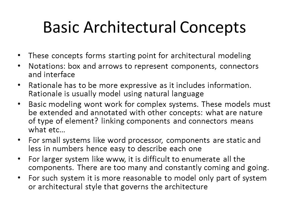 Basic Architectural Concepts