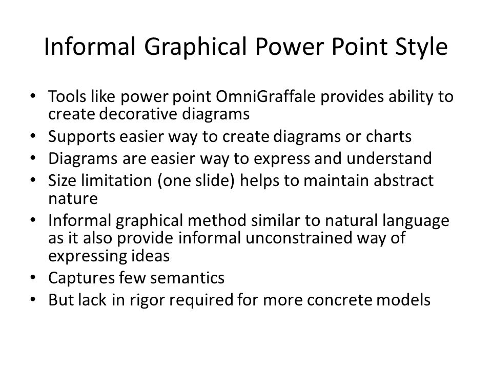 Informal Graphical Power Point Style