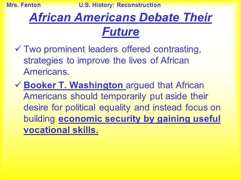 African Americans Debate Their Future