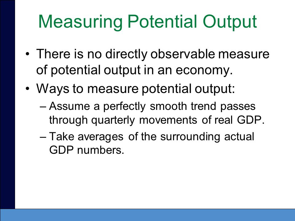 Measuring Potential Output