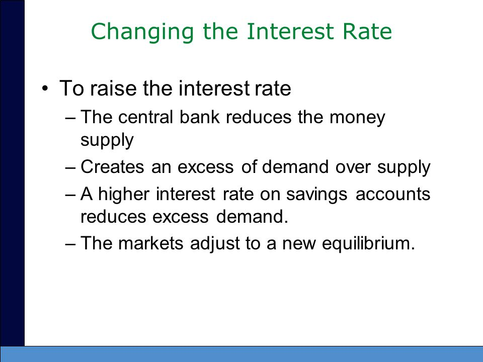 Changing the Interest Rate