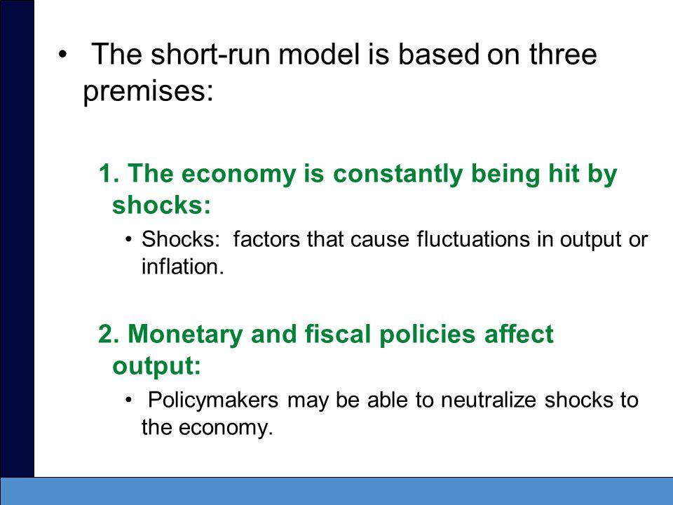 The short-run model is based on three premises: