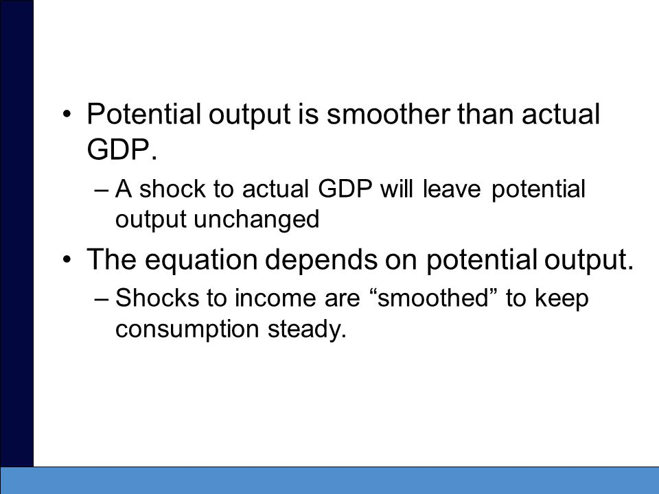 Potential output is smoother than actual GDP.