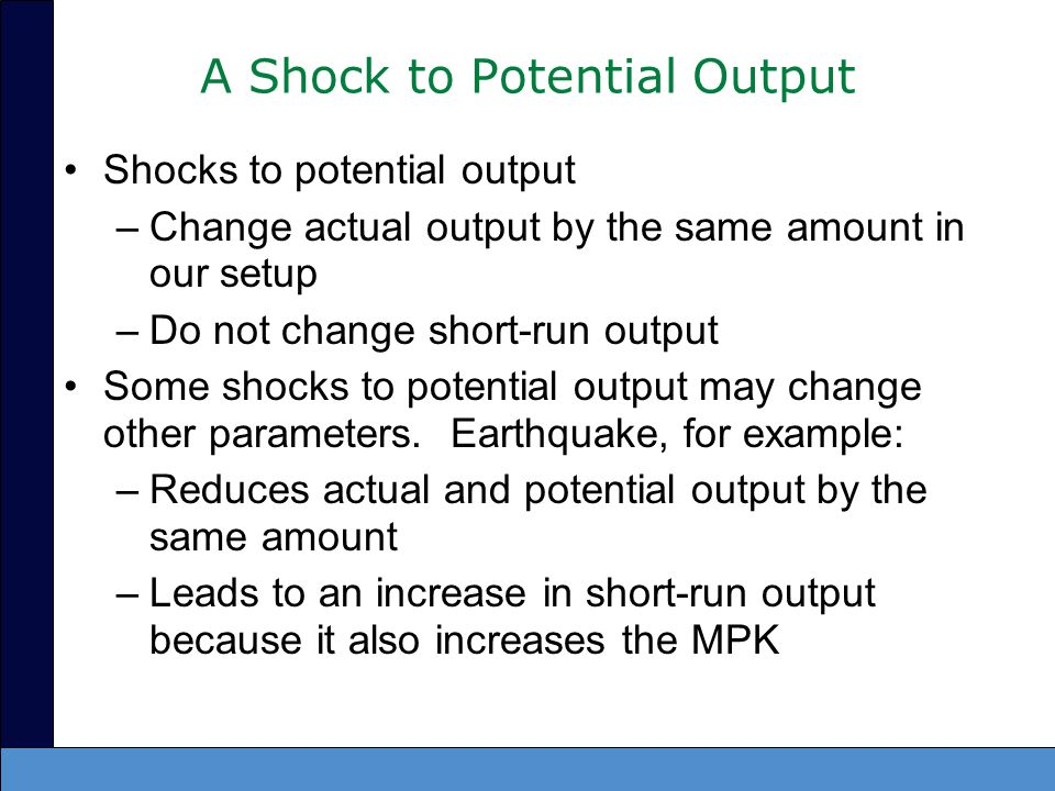 A Shock to Potential Output