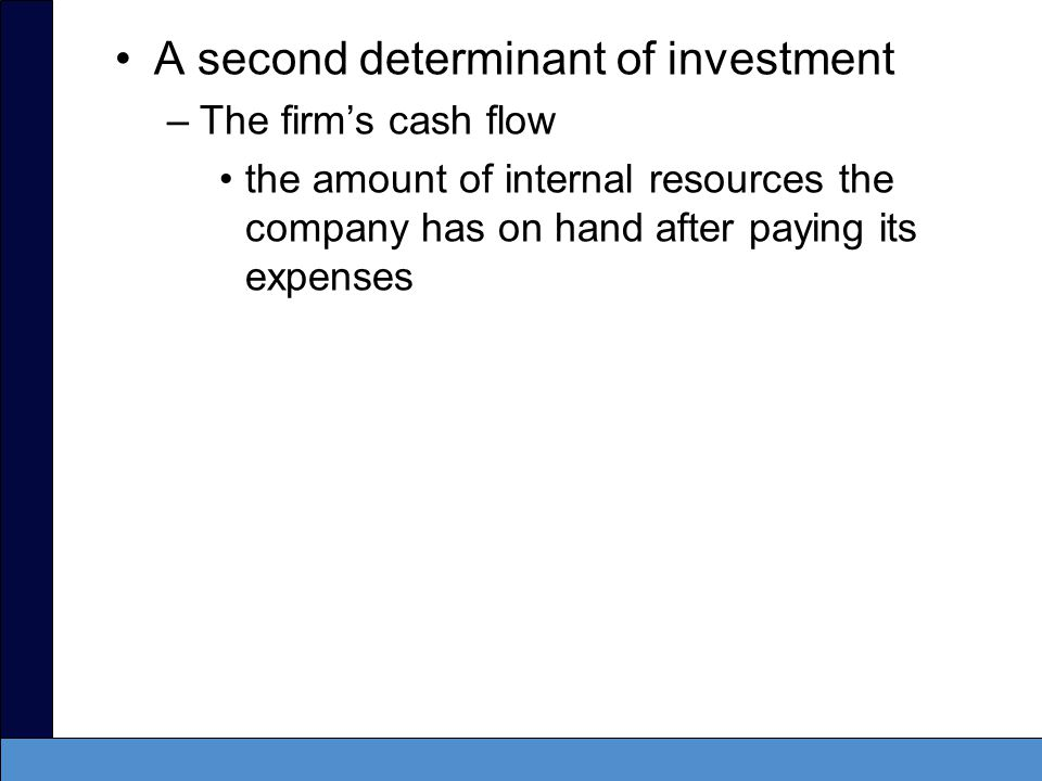 A second determinant of investment