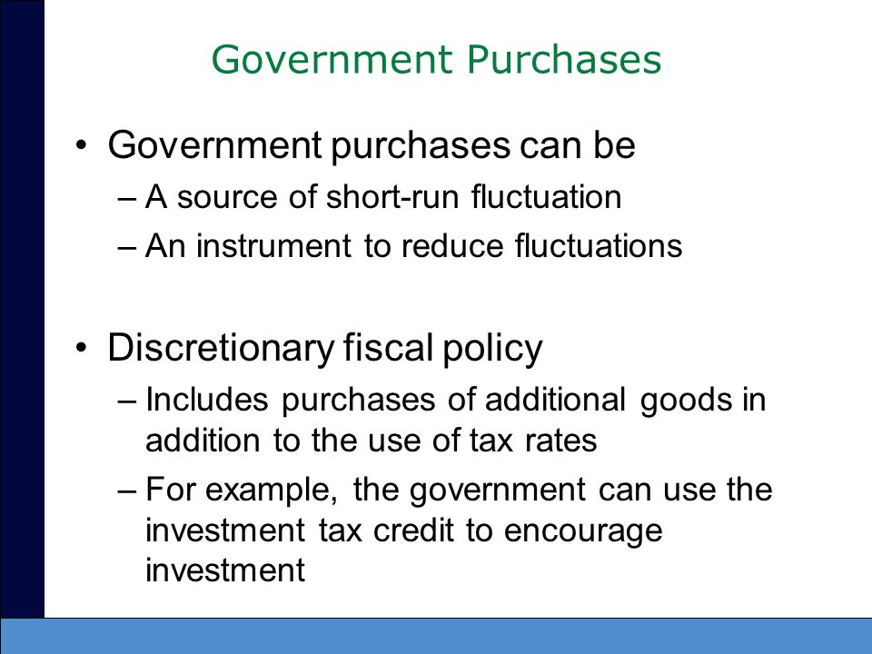 Government purchases can be