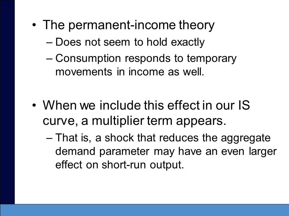 The permanent-income theory