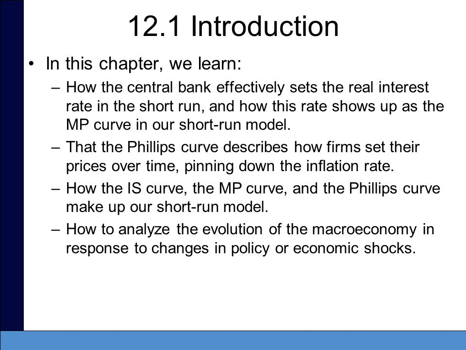 12.1 Introduction In this chapter, we learn: