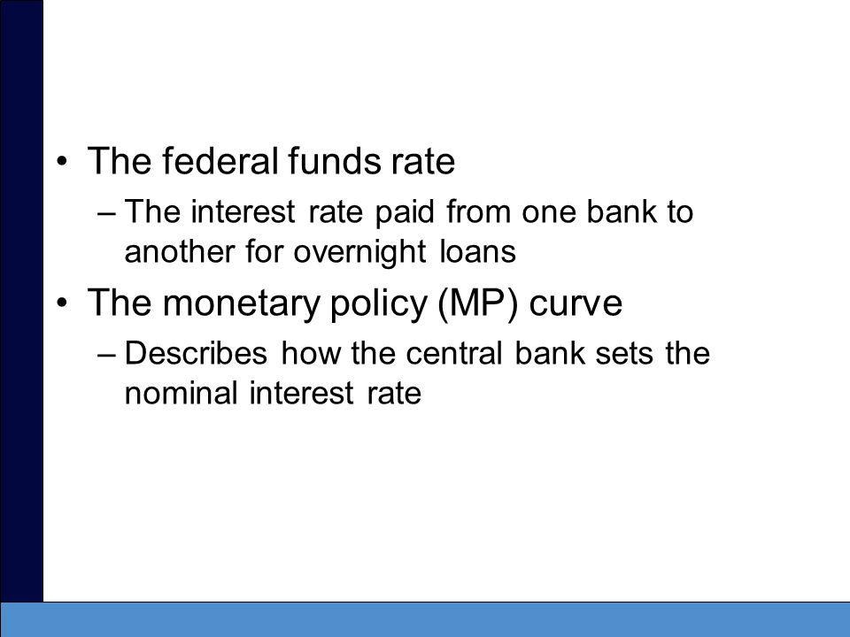 The monetary policy (MP) curve
