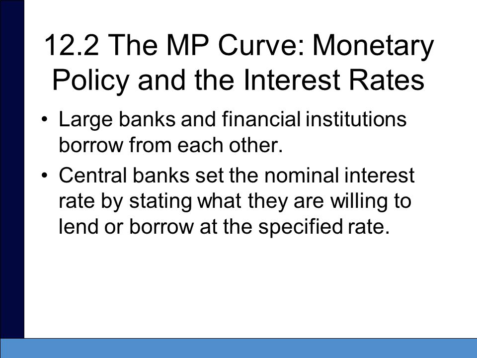12.2 The MP Curve: Monetary Policy and the Interest Rates