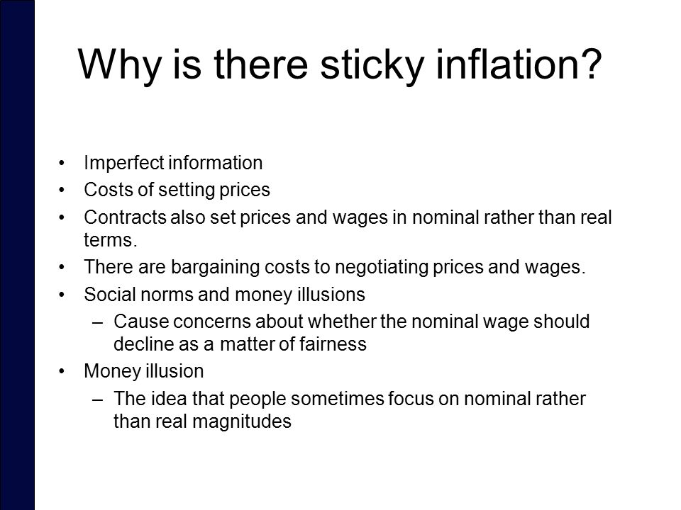 Why is there sticky inflation