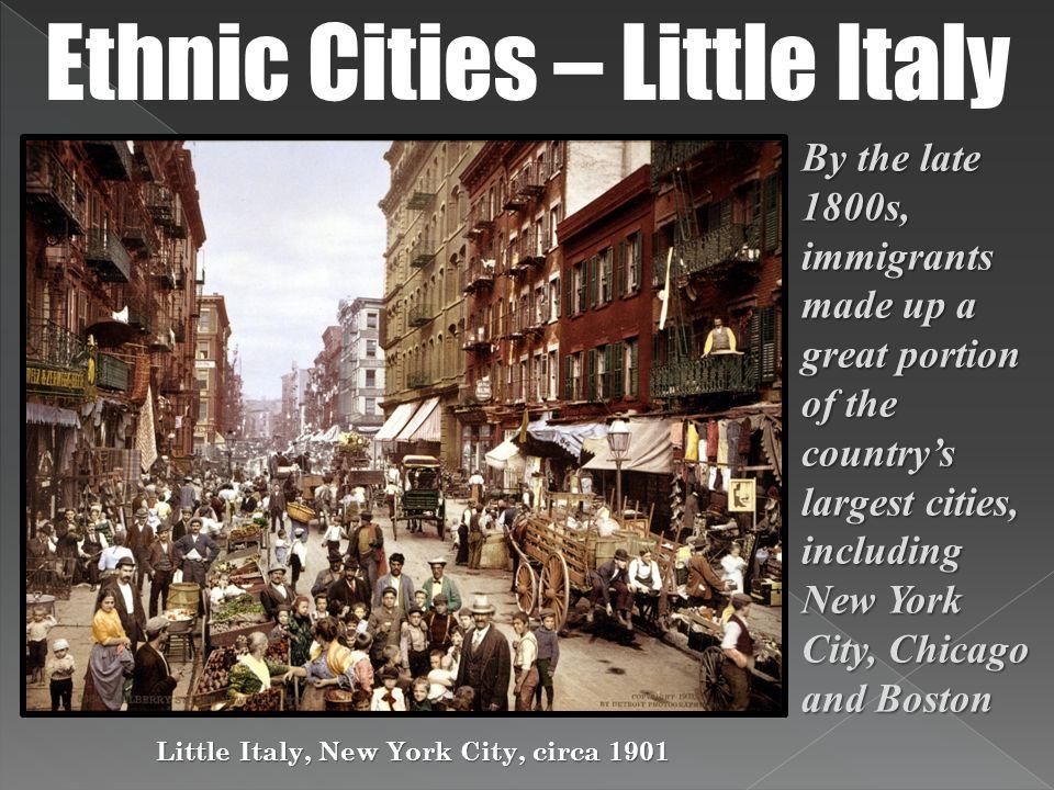 Little Italy, New York City, circa 1901