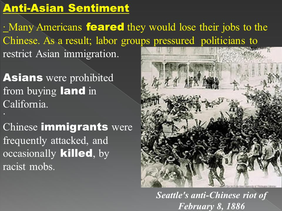 Seattle s anti-Chinese riot of February 8, 1886