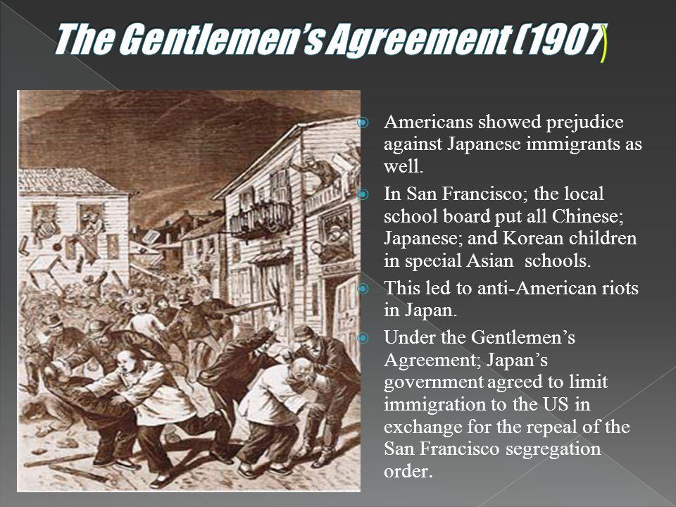 The Gentlemen's Agreement (1907)