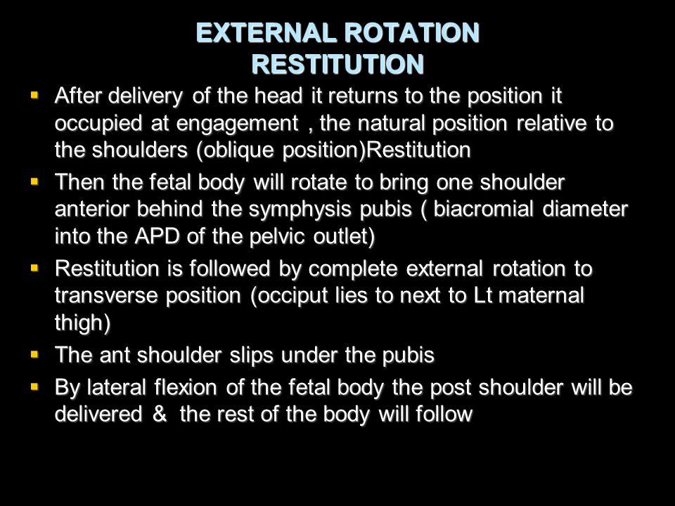 EXTERNAL ROTATION RESTITUTION