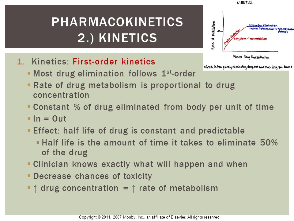 Pharmacokinetics 2.) kinetics