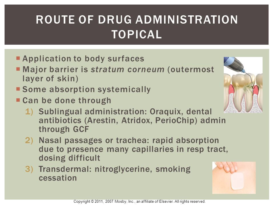 route of drug administration topical