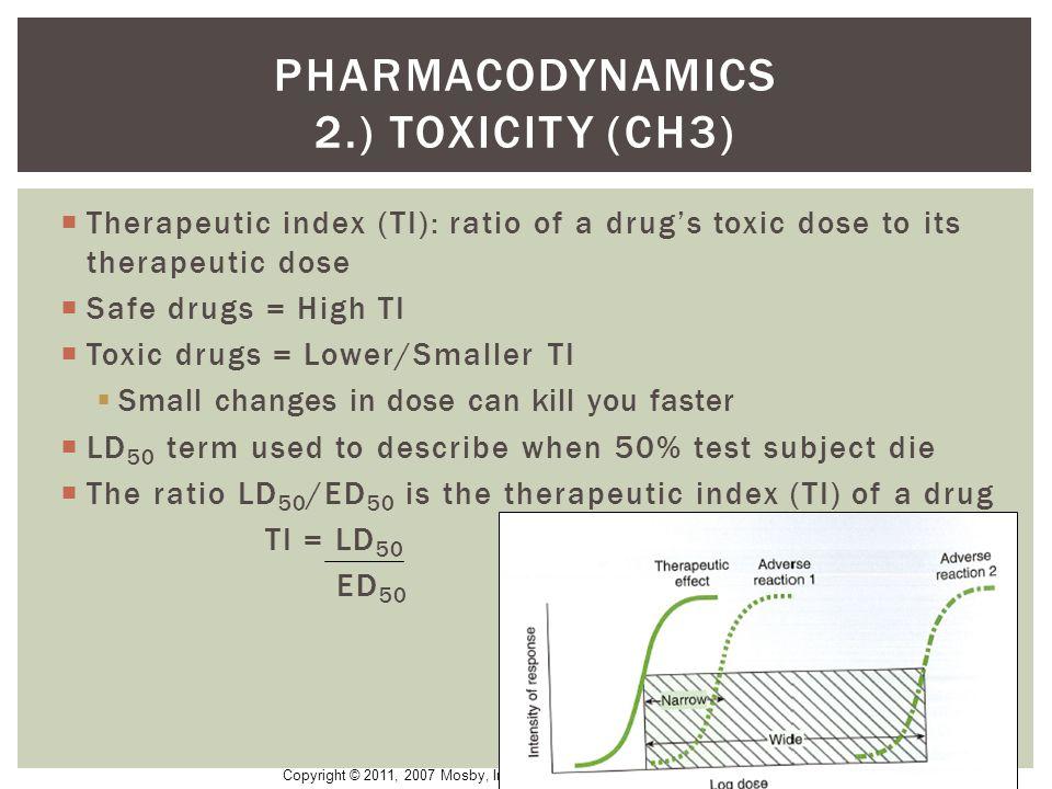 Pharmacodynamics 2.) Toxicity (CH3)
