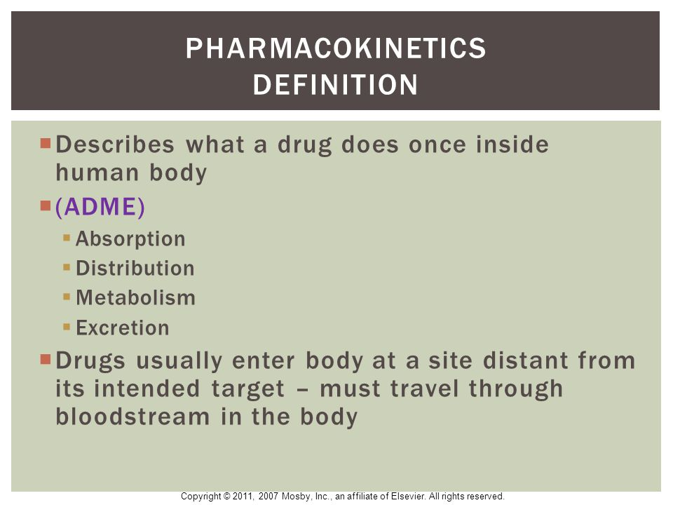 Pharmacokinetics definition