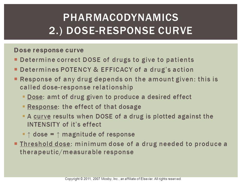 Pharmacodynamics 2.) Dose-Response curve