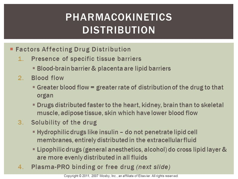 Pharmacokinetics distribution