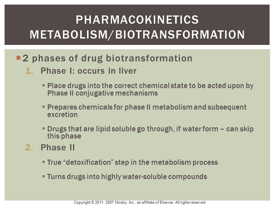 Pharmacokinetics metabolism/biotransformation