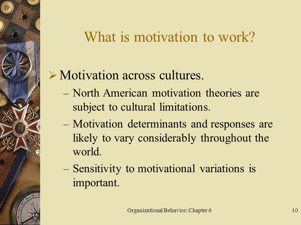 What is motivation to work