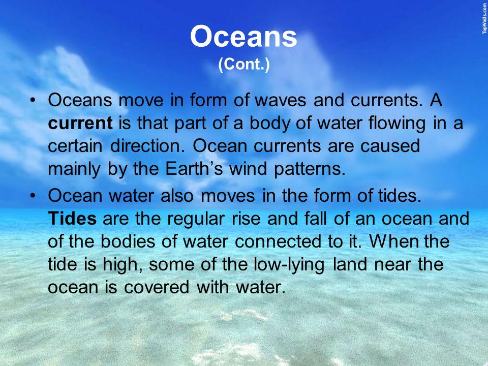 Oceans (Cont.)