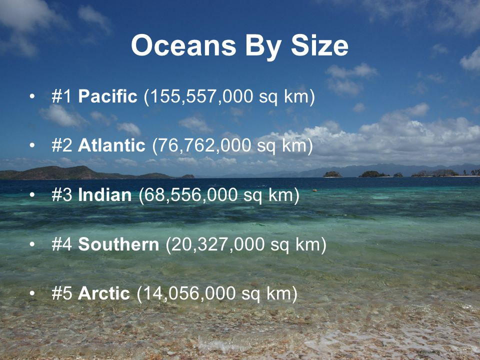 Oceans By Size #1 Pacific (155,557,000 sq km)