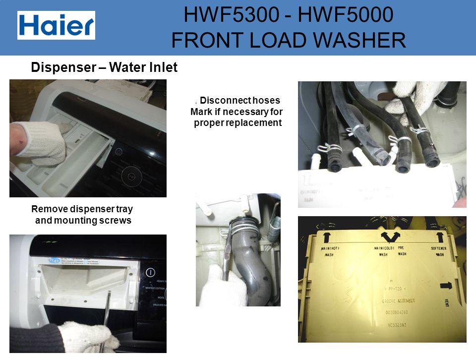 Dispenser – Water Inlet