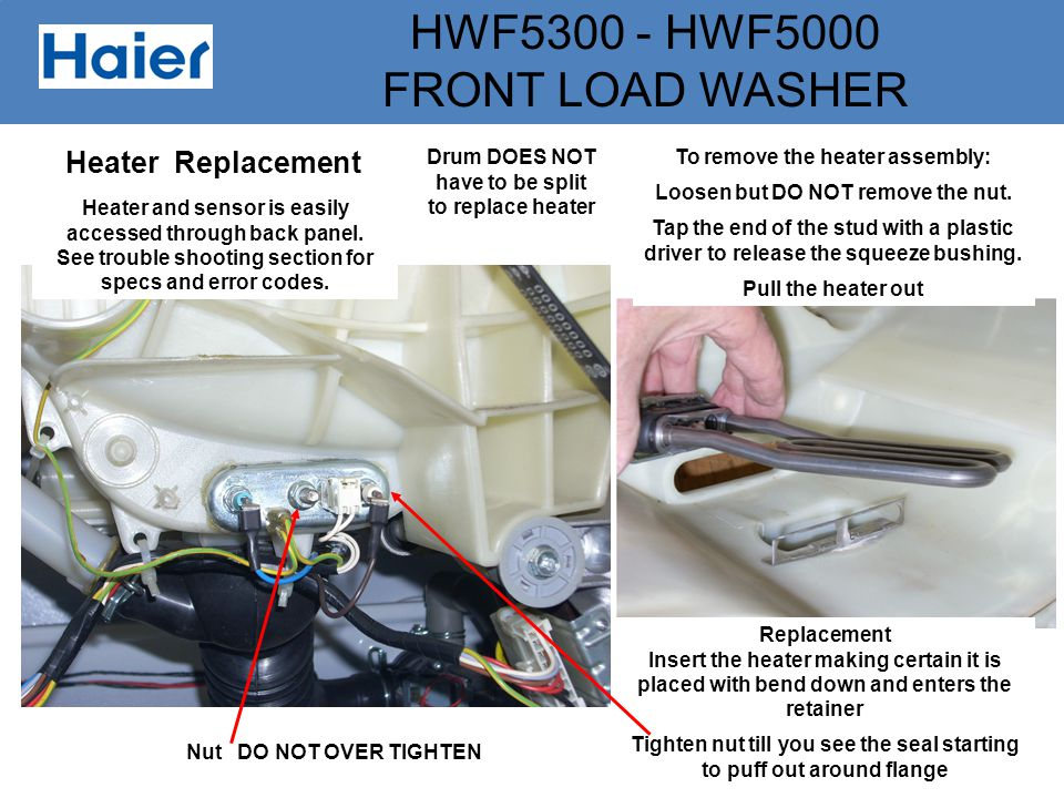 Heater Replacement Drum DOES NOT have to be split to replace heater