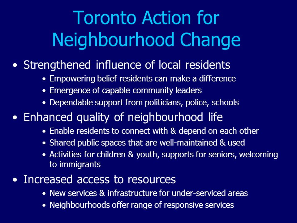 Toronto Action for Neighbourhood Change