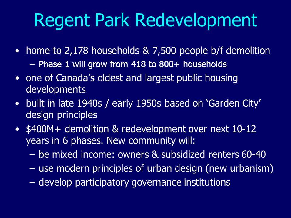 Regent Park Redevelopment