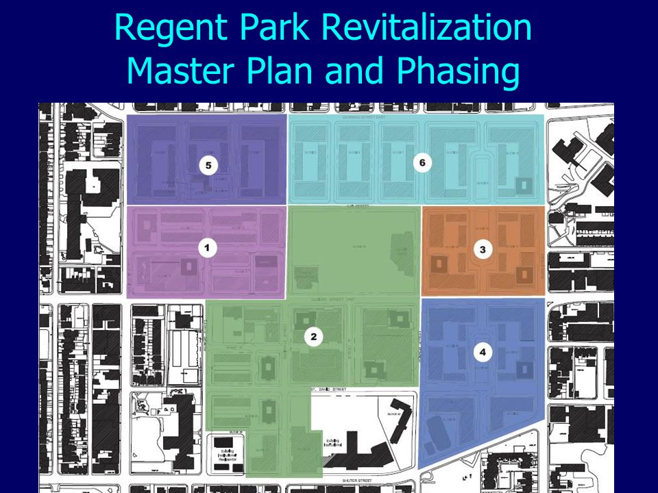 Regent Park Revitalization Master Plan and Phasing