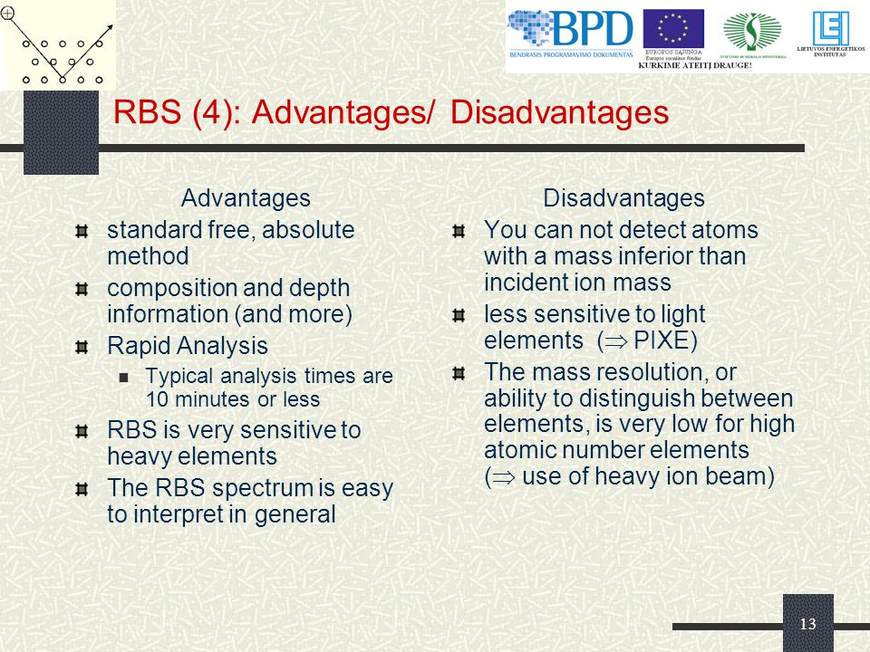 RBS (4): Advantages/ Disadvantages
